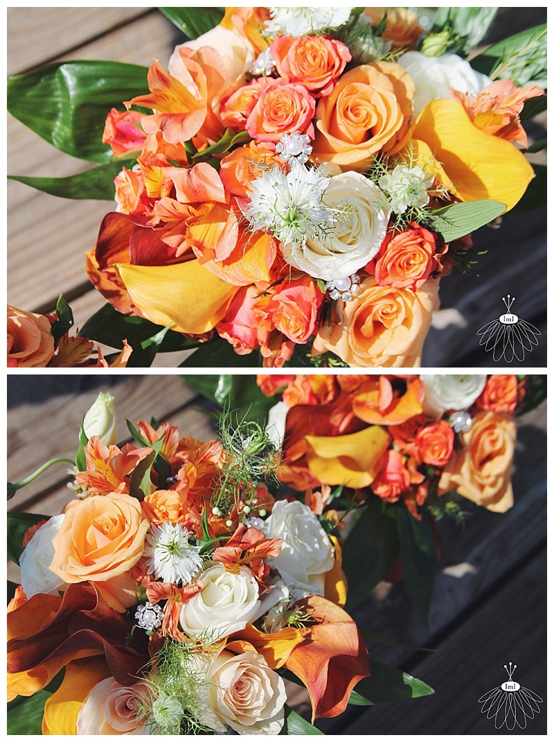 little miss lovely // wedding florist // baltimore md wedding // calla lily bouquets // orange calla lily bouquet