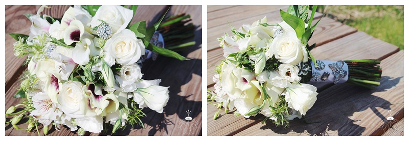 little miss lovely // wedding florist // baltimore md wedding // white calla lily picasso lily bouquet with bling