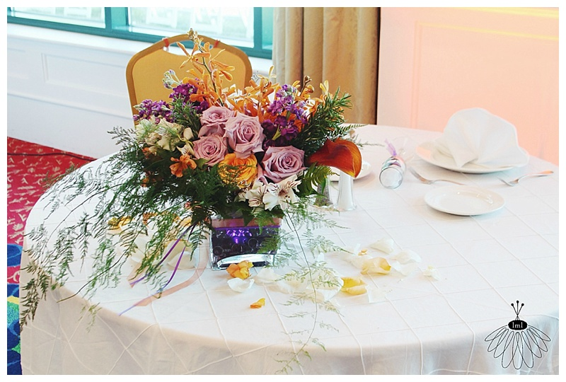 little miss lovely // wedding florist // Aberdeen MD wedding // cascading sweetheart table arrangement