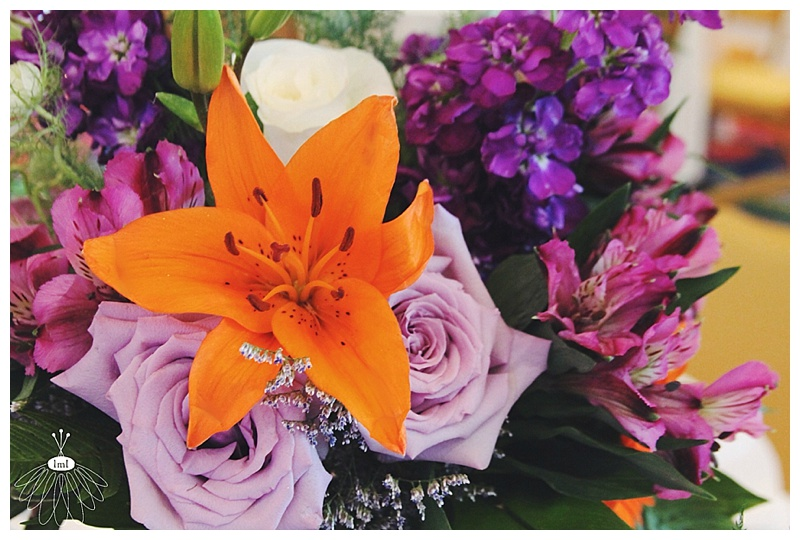 little miss lovely // wedding florist // baltimore md wedding // orange and purple