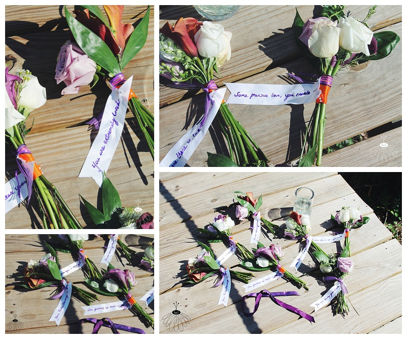 little miss lovely // wedding florist // baltimore md wedding // breakaway toss bouquet with fortunes