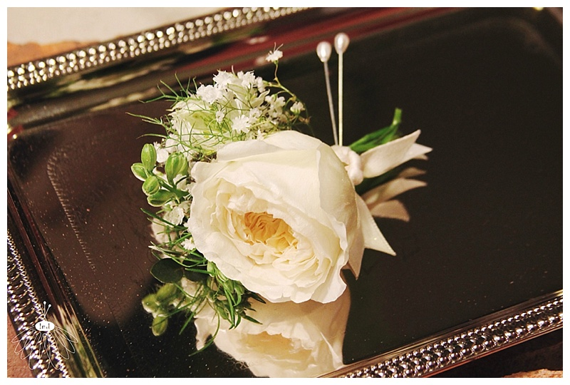 little miss lovely // ocean city berlin md wedding florist // white patience english garden rose boutonnieres