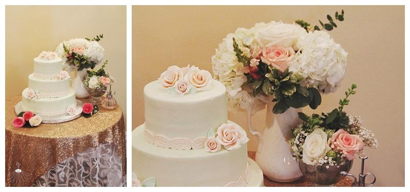 little miss lovely // ocean city md wedding florist // wedding cake flowers