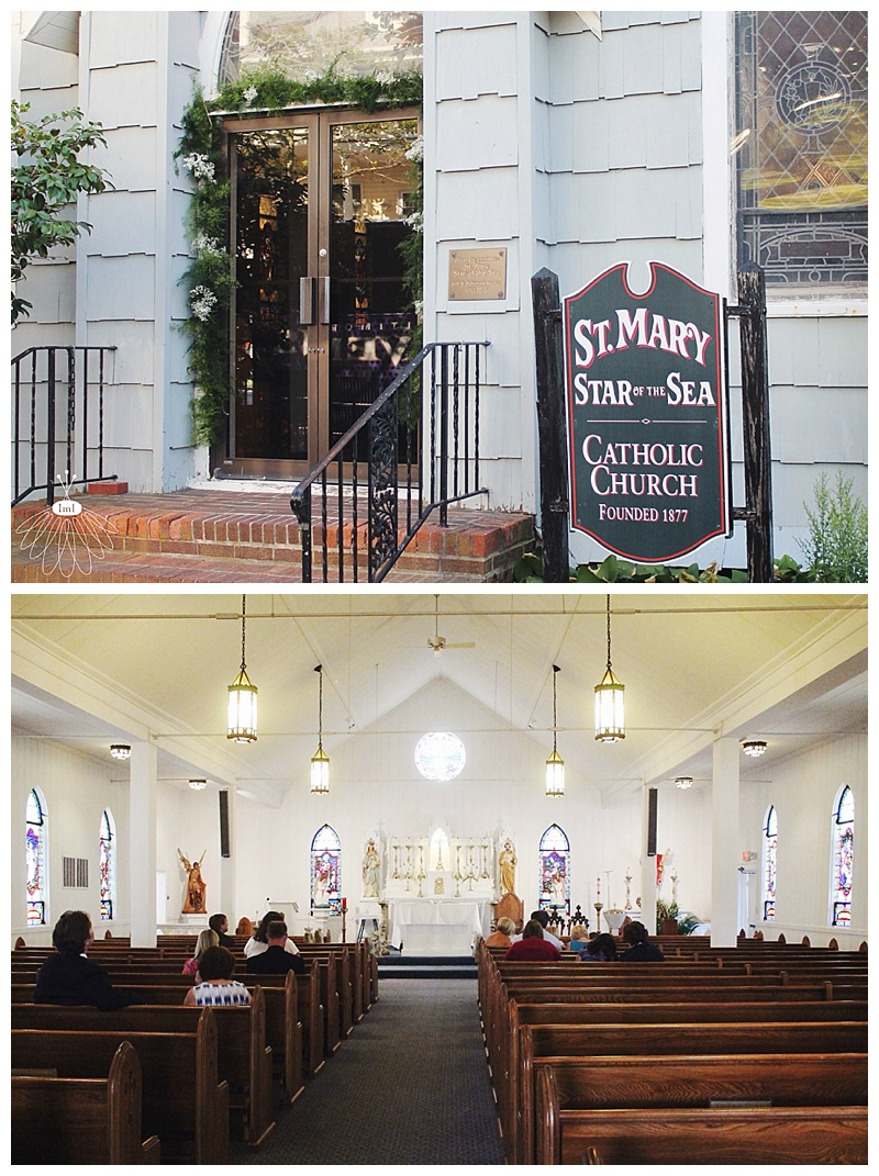 little miss lovely // ocean city md wedding florist // st mary star of the sea church