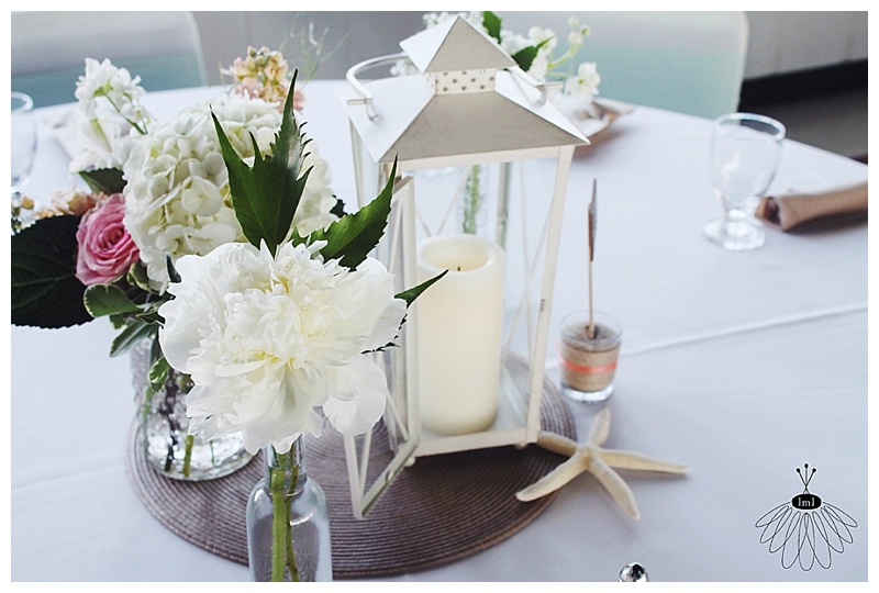 little miss lovely // ocmd wedding florist // hobnail and bud vase lantern centerpieces