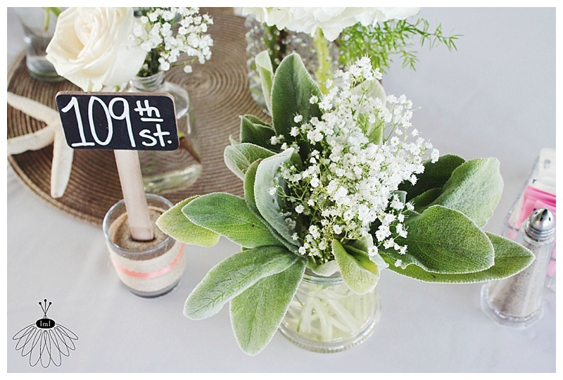 little miss lovely // ocean city md wedding florist // lambs ear and babys breath