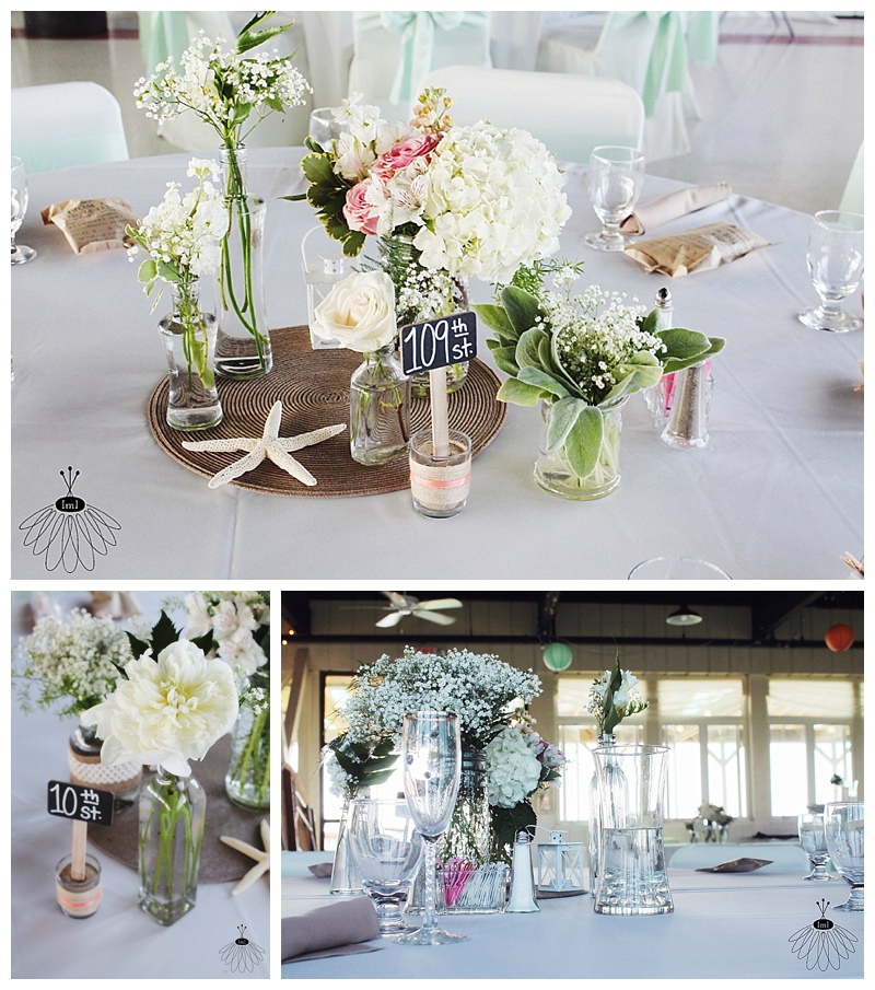 little miss lovely // ocean city maryland wedding florist // beach wedding // centerpieces