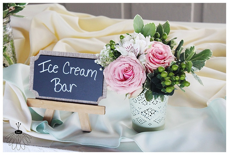 little miss lovely // ocean city md wedding florist // mint and peach wedding flowers // the sunset room