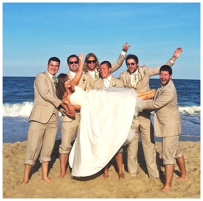 amber and robby // ocean city md beach wedding