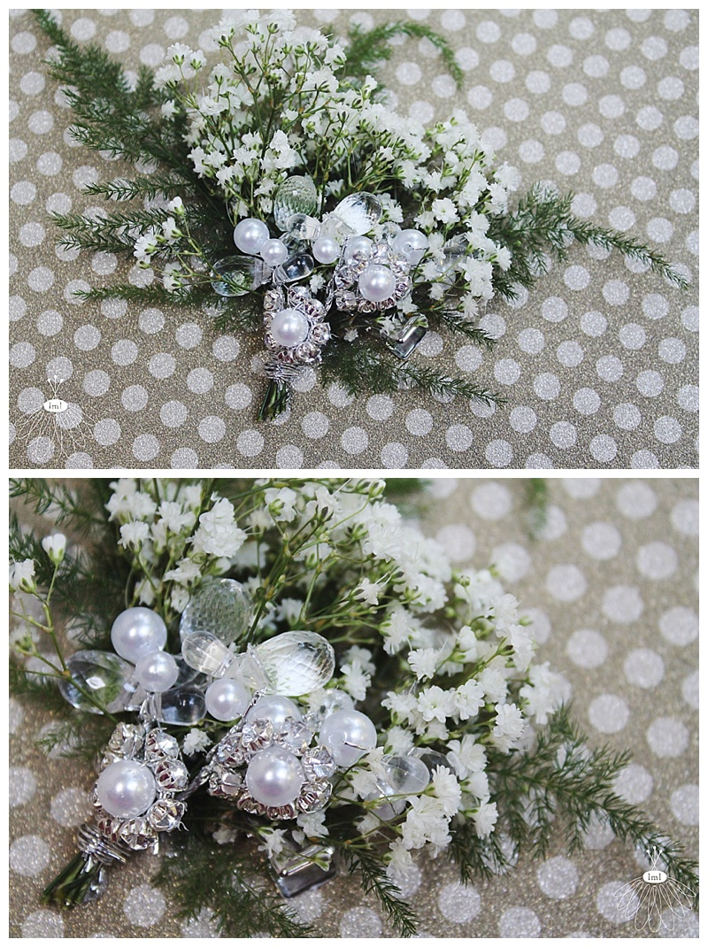 little miss lovely // berlin md wedding florist // babys breath and pearl hair flowers