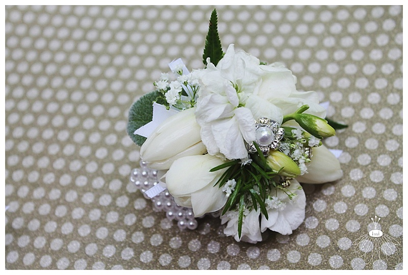 little miss lovely // ocean city md wedding florist // tulip pearl wrist corsage