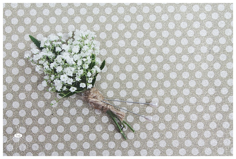 little miss lovely // ocean city md wedding florist // babys breath twine boutonniere