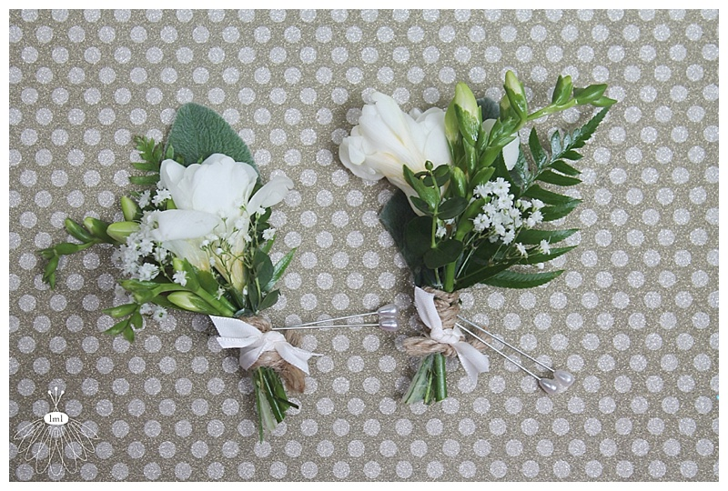 little miss lovely // ocean city md wedding florist // freesia father boutonnieres with twine