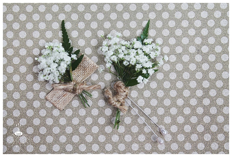 little miss lovely // ocean city md wedding florist // babys breath twine ringbearer boutonnieres