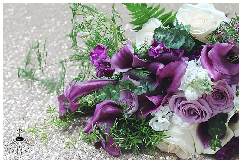 little miss lovely // berlin md wedding florist // purple and white bridal bouquet