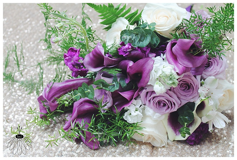 little miss lovely // berlin md wedding florist // purple calla lily and silver wedding