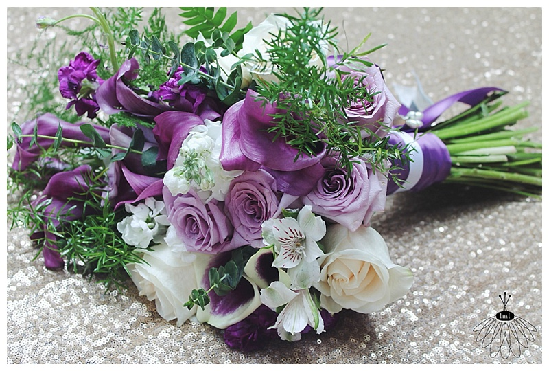 little miss lovely // berlin md wedding florist // cascading wisteria and silver wedding bouquet