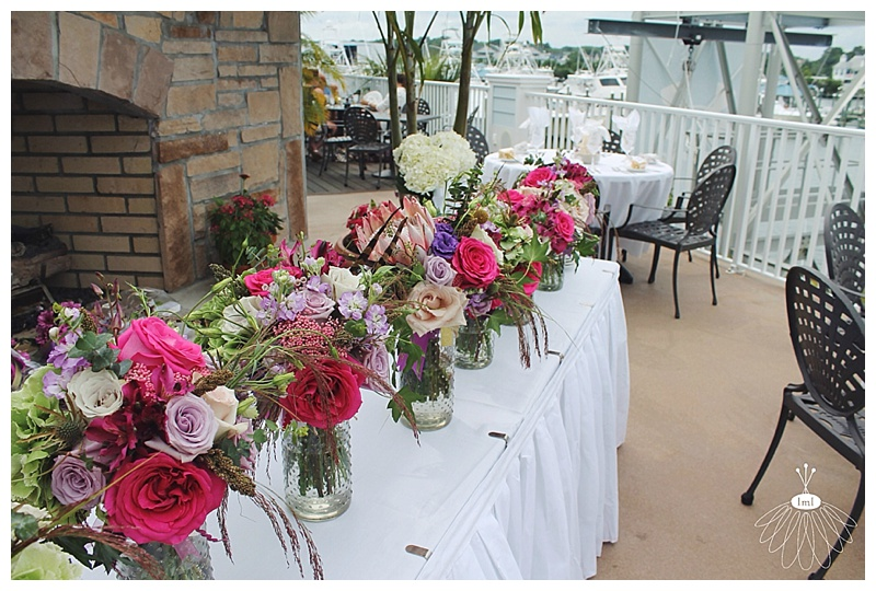 little miss lovely // ocean city md wedding florist // sunset grille wedding reception //bouquets