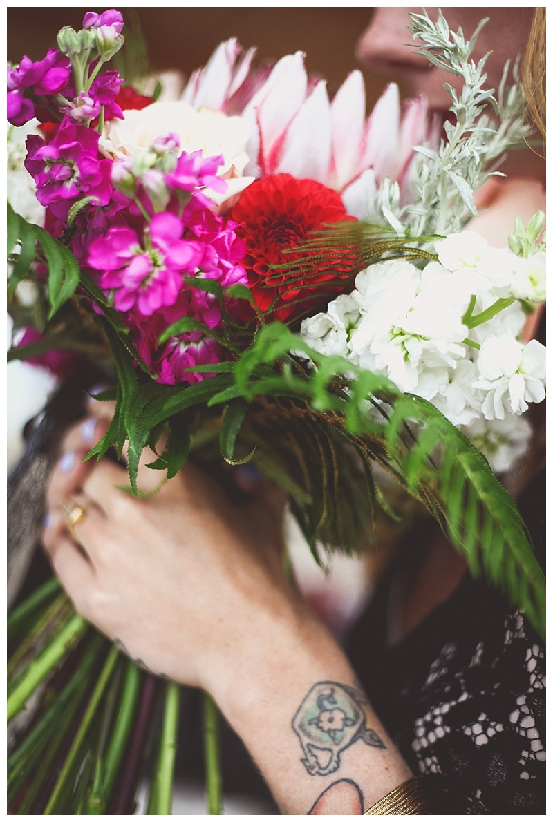 little miss lovely // berlin maryland wedding florist // king protea bridal bouquet