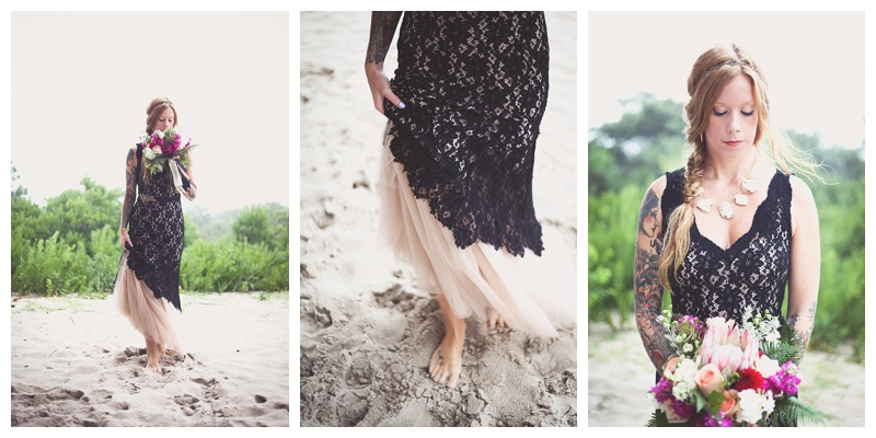 Nha Khanh gown black lace // mid century modern bridal inspiration