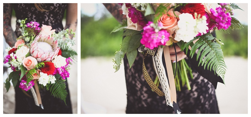 red purple tan bouquet // king protea // little miss lovely berlin maryland florist
