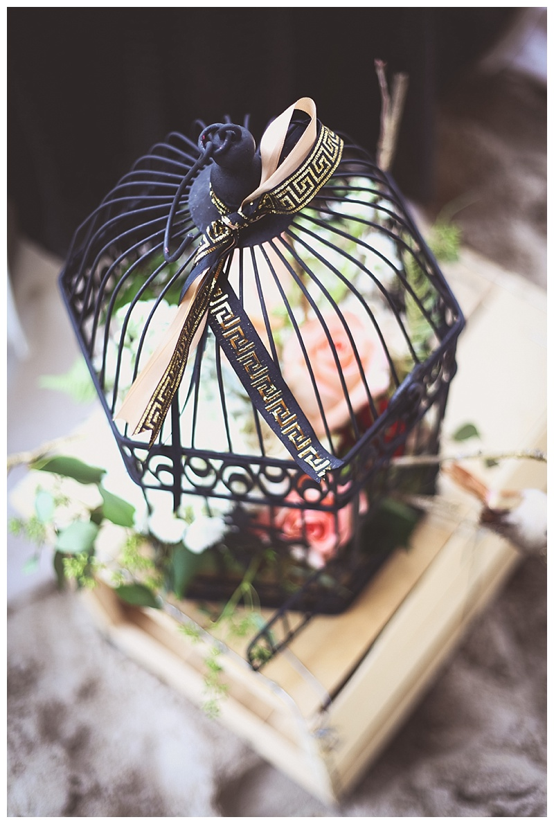 birdcage wedding piece // little miss lovely ocean pines maryland wedding florist