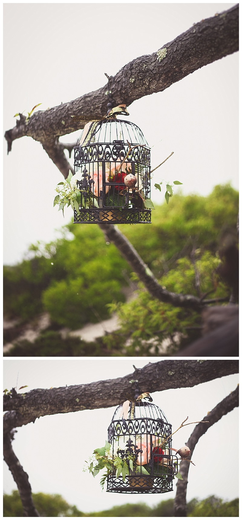 birdcage wedding centerpiece accent arrangement // little miss lovely wedding florist