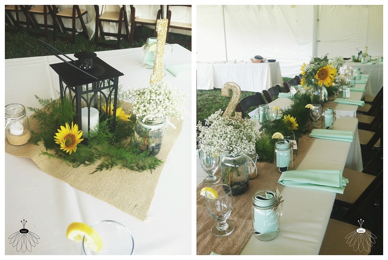 little miss lovely // berlin maryland wedding florist // sunflower and babys breath wedding