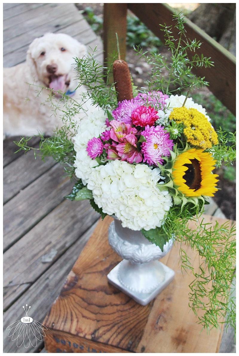 little miss lovely // berlin maryland event florist // summer sunflowers aster hydrangea