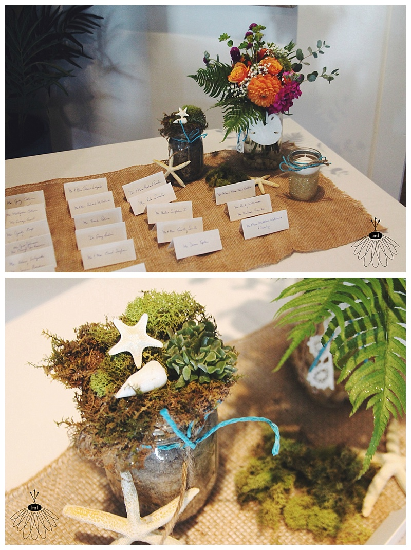 little miss lovely // wedding florist icmd moss and succulent entry table