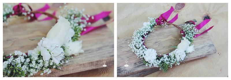 Little Miss Lovely // white rose flower crown flower girl