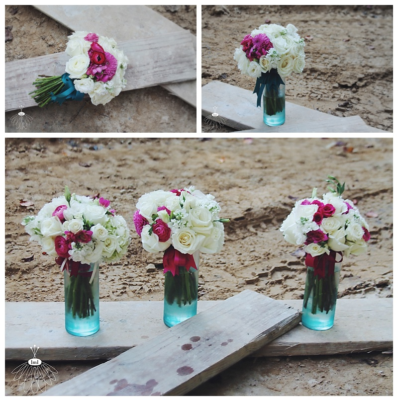 Little Miss Lovely // Wedding Florist Pink White Teal wedding flowers