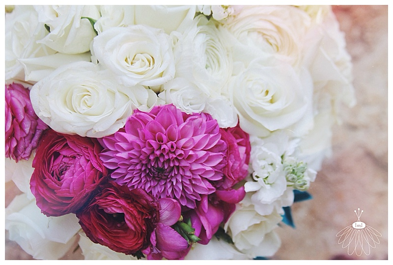 Little Miss Lovely // Pink and White color block bouquet