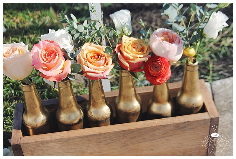 little miss lovely // rehoboth beach wedding florist beer bottles