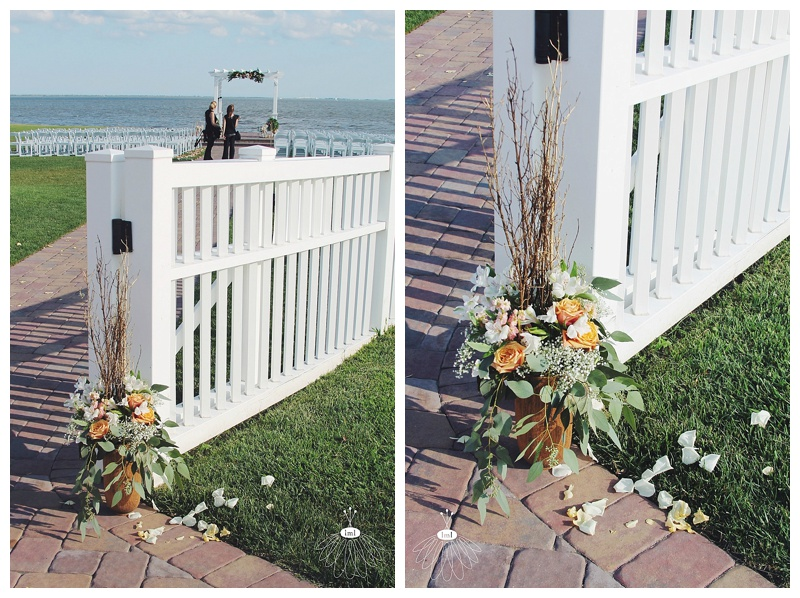little miss lovely // rehoboth beach delaware country club entry arrangement