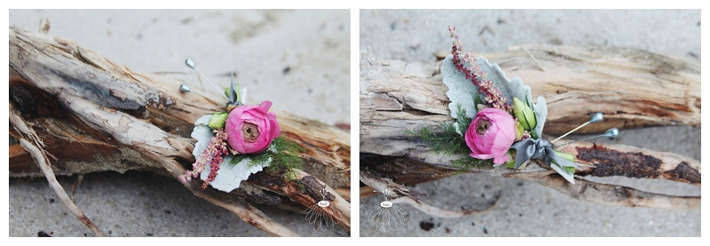 little miss lovely // ocean city maryland wedding florist ranunculus dusty miller boutonniere
