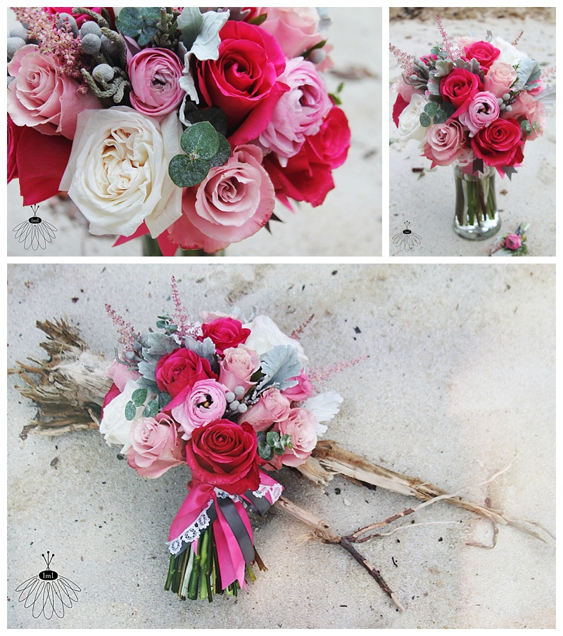 little miss lovely // ocean city maryland wedding florist pink and white bouquet
