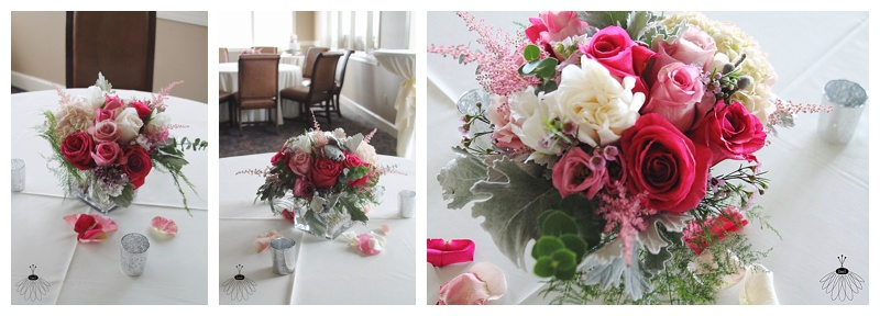 little miss lovely // ocean city maryland wedding florist lighthouse sound centerpieces white pink grey