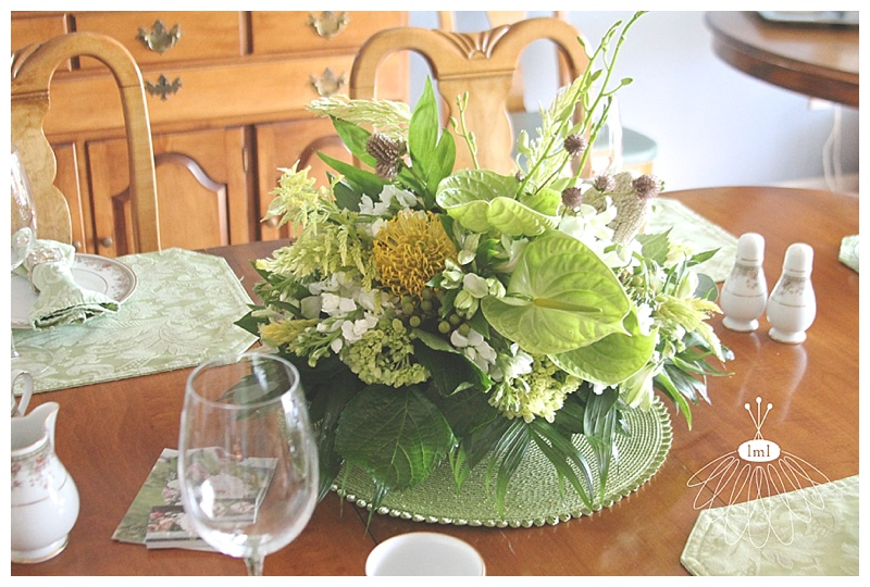 little miss lovely // art league sandcastle home tour ocean city dining room centerpiece