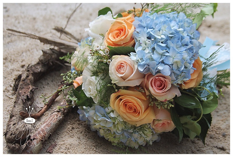 little miss lovely // ocean city maryland wedding florist blue hydrangea bouquet