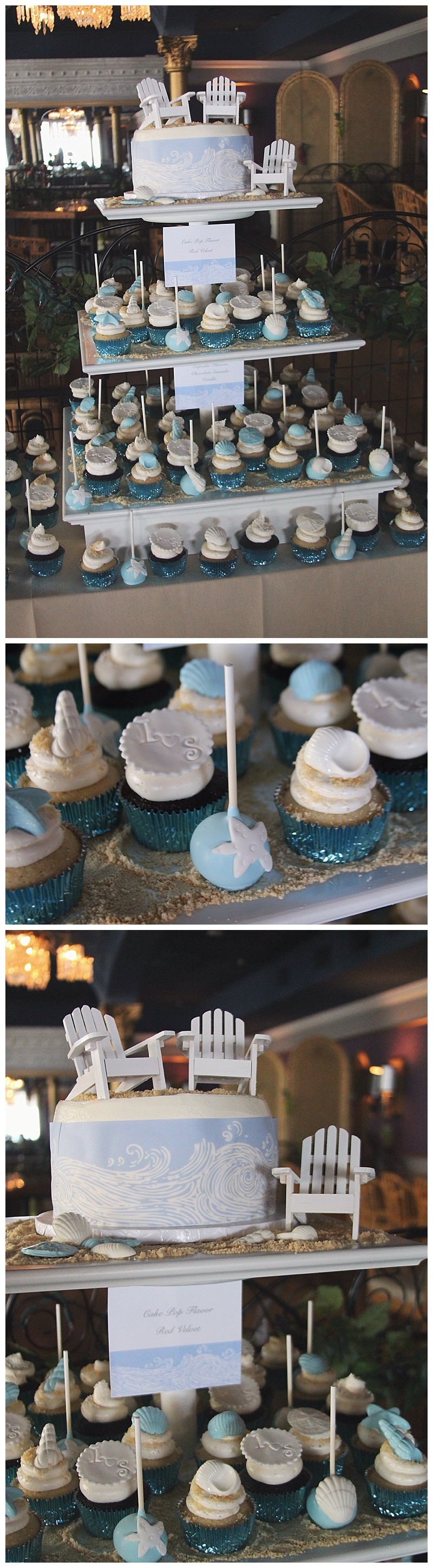 yummy sweet shop // ocean city ocean pines cupcake wedding cake