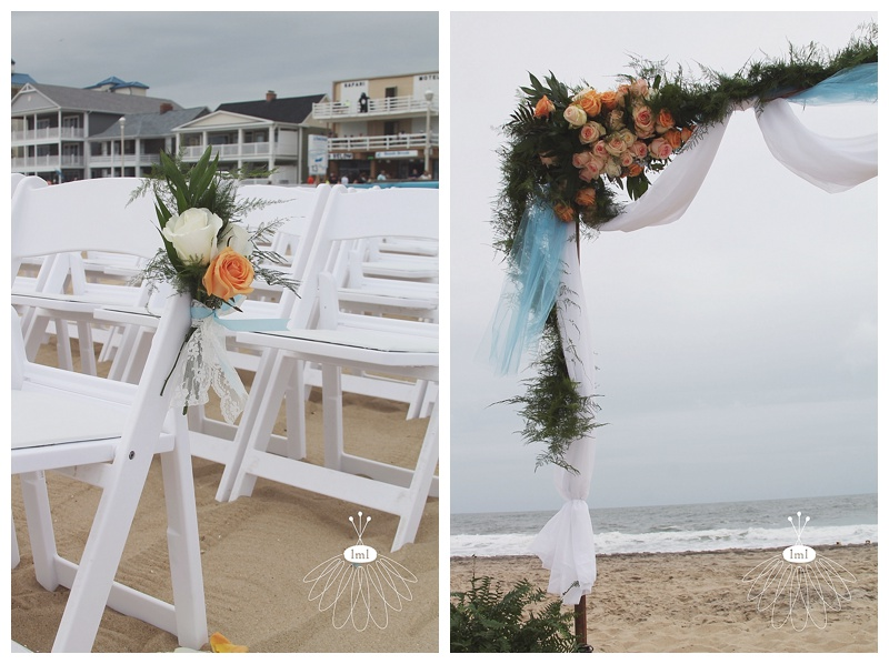 little miss lovely // ocean city wedding florist beach wedding archway backdrop
