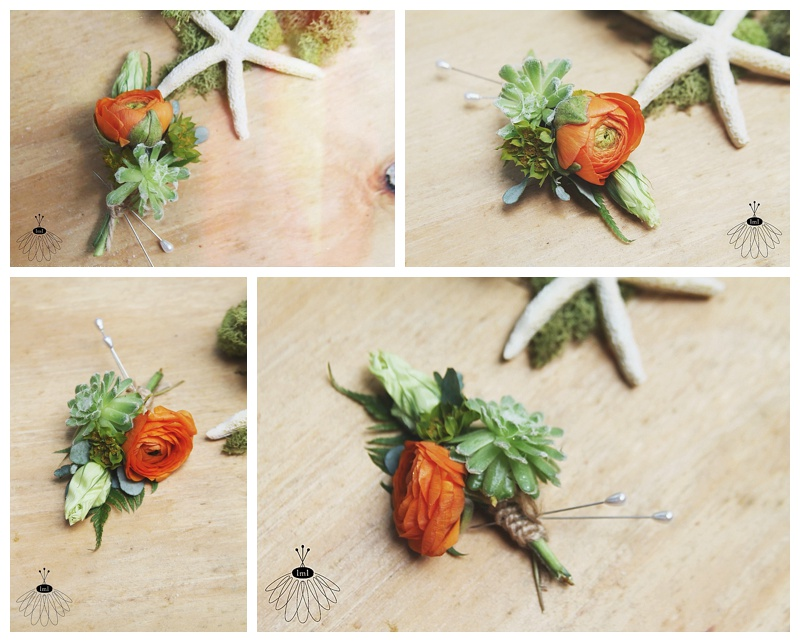 little miss lovely succulent orange ranunculus bout