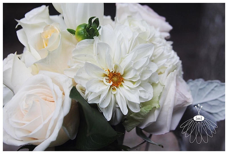 little miss lovely // white cream ivory wedding bouquet ocean city maryland lighthouse sound