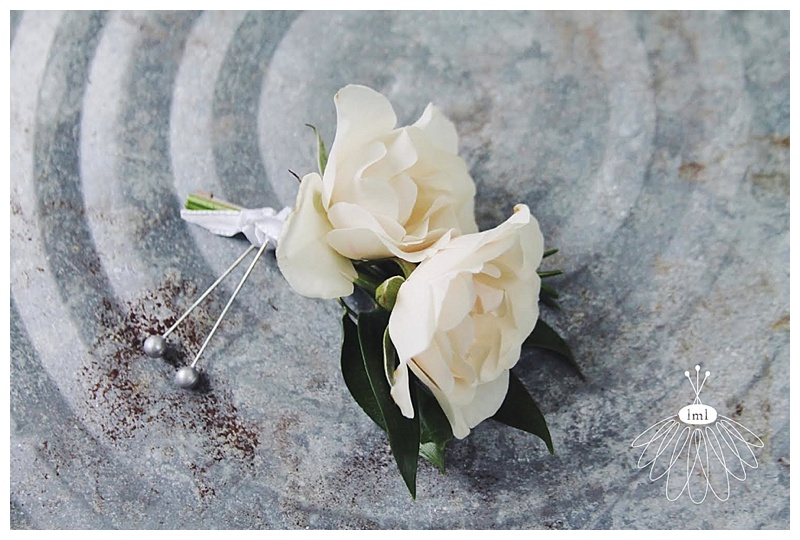 little miss lovely // ocean city wedding florist lighthouse sound ivory spray rose boutonniere
