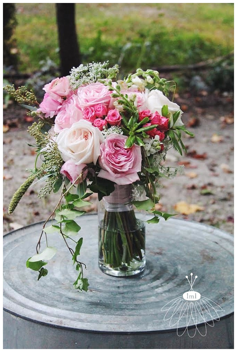 little miss lovely // berlin maryland wedding florist pink cream vintage style bouquet