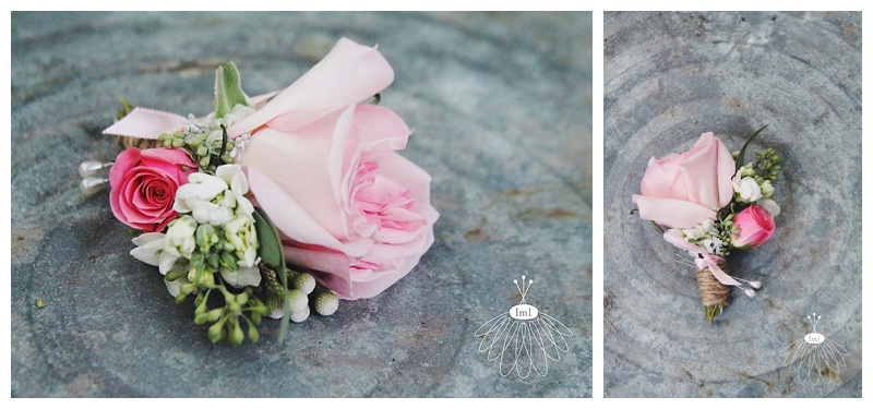 little miss lovely // worcester county maryland florist pink garden rose boutonniere