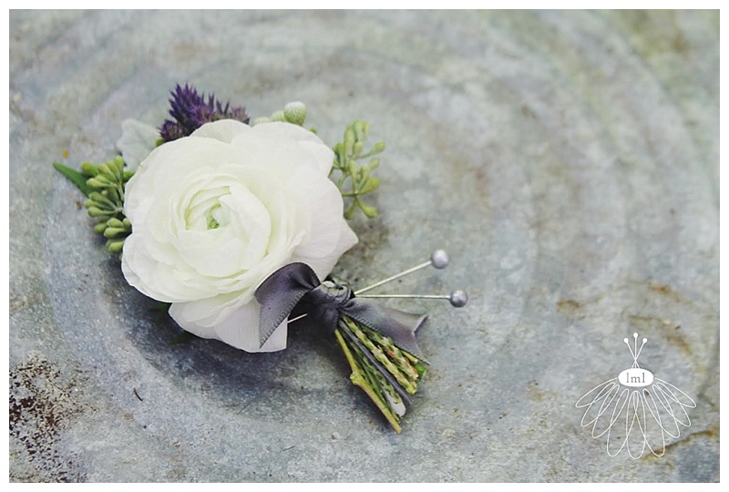 little miss lovely // berlin maryland wedding florist white ranunculus boutonniere