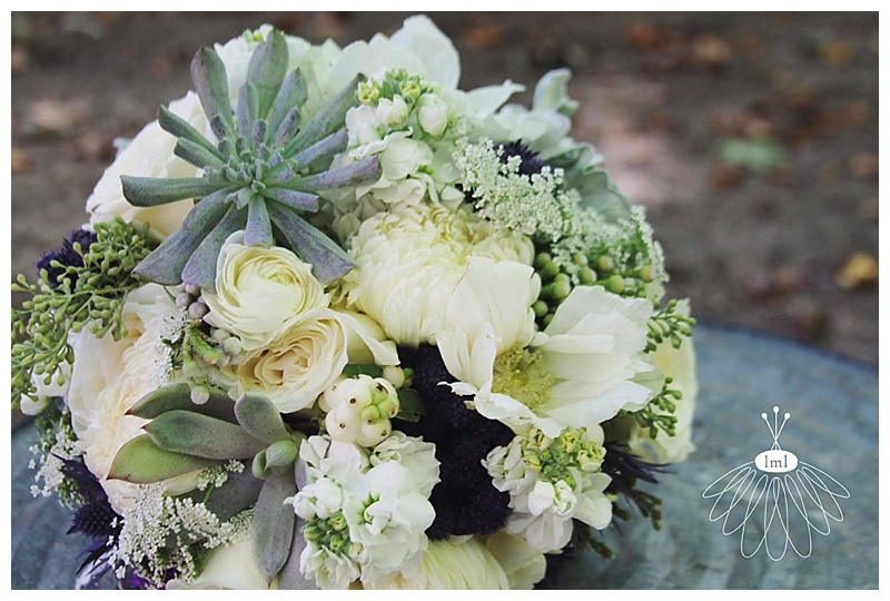 little miss lovely // berlin maryland wedding florist white purple succulent bridal bouquet