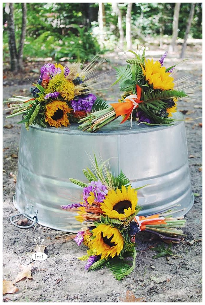 little miss lovely // salisbury maryland wedding florist sunflower wheat autumn bouquets